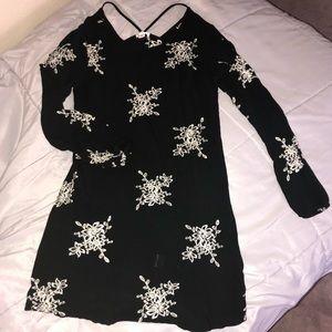 Xhilaration Black Floral Dress